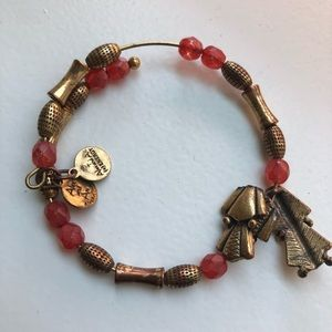 Alex and Ani Red and Gold Bracelet